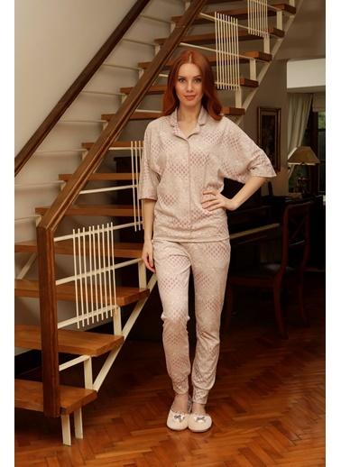 Hays Larin Penye Kadın 2li Uzun Pijama Takımı